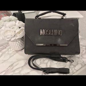 Moschino gray cross body bag